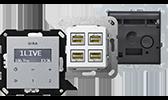 GIRA Einsätze Unterputz Audio-Systeme