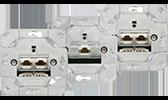 GIRA Einsätze Unterputz Datendosen