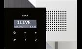 GIRA Flächenschalter Unterputz-Radio / Audio-Systeme