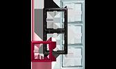 MERTEN System Fläche Rahmen Artec