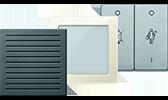 MERTEN System M / Einsätze Signal + Info