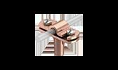 Blitzschutz Fangeinrichtungs- und Ableitungs-Systeme Leitungshalter