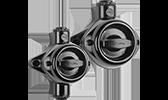 THPG Feuchtraum Aufputz Bakelit IP44 Drehschalter