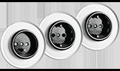 THPG Bakelitschalter mit Glasabdeckung Steckdosen