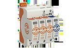 Überspannungsschutz OBO Bettermann Energietechnik, Ableiter Typ 1+2