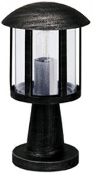 albert 600542 sockelleuchte schwarz mit acrylglas klar schwarz online kaufen im voltus. Black Bedroom Furniture Sets. Home Design Ideas