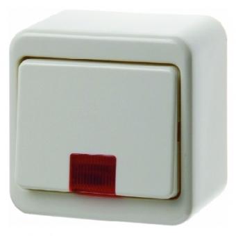 BERKER 301640 Kontroll-Wippschalter mit roter Linse