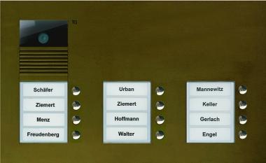 TCS AVU16120 0012 Video Außenstation Mit 12 Tasten Für 12 WE
