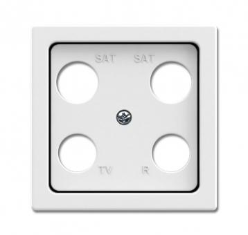 busch jaeger 1743 04 84 abdeckung f r 4 fach antennensteckdose studiowei online kaufen im. Black Bedroom Furniture Sets. Home Design Ideas