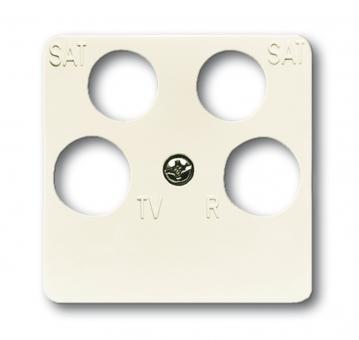 busch jaeger 1743 10 04 212 abdeckung f r 4 fach antennensteckdose online kaufen im voltus. Black Bedroom Furniture Sets. Home Design Ideas