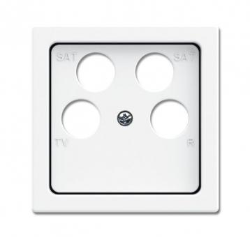 busch jaeger 1743 10 04 84 abdeckung f r 4 fach antennensteckdose studiowei online kaufen im. Black Bedroom Furniture Sets. Home Design Ideas
