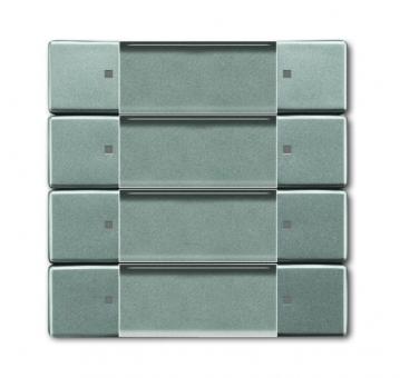 busch jaeger 6737 803 bedienelement zigbee light link 4 fach graumetallic online kaufen im. Black Bedroom Furniture Sets. Home Design Ideas