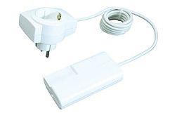 BACHMANN 924.079 Schnur-Enddimmer mit 2m Kabel und Gerätestecker Weiß