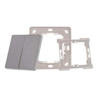 EVOTEC EHAK02-AL Montageset für Funktaster Enocean, Zigbee, KNX RF Aluminium