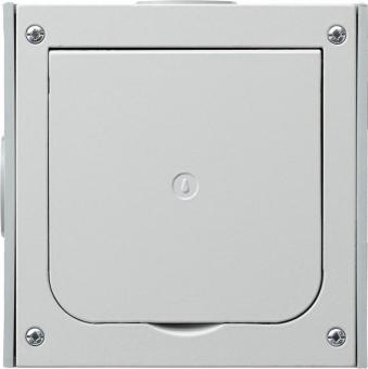 GIRA 011800 Fußbodenleergehäuse Unterputz mit Klappdeckel Alu-Druckguss
