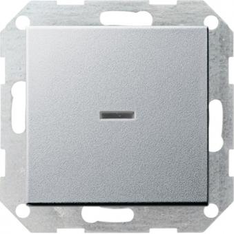 GIRA 013626 Tast-Kontrollschalter Universal-Aus-Wechselschalter Farbe Alu