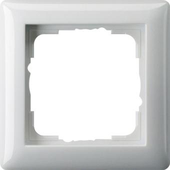 GIRA 021103 Abdeckrahmen Standard 55 Reinweiß glänzend 1-fach
