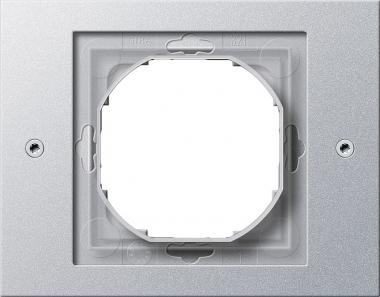 GIRA 021165 Rahmen mit Dichtungsflansch für Kombinationen Alu 1fach