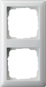 GIRA 021203 Abdeckrahmen Standard 55 Reinweiß glänzend 2-fach