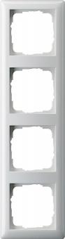 GIRA 021403 Abdeckrahmen Standard 55 Reinweiß glänzend 4-fach