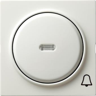 GIRA 028640 Kontrollwippe mit Symbol -Klingel- Reinweiß