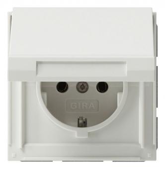 GIRA 045466 SCHUKO-Steckdose mit Klappdeckel Reinweiß