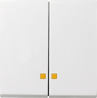 GIRA 063103 Serienwippe mit Kontrollfenster Reinweiß glänzend