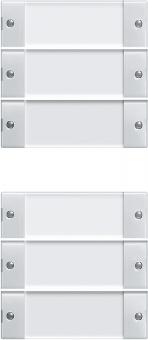 GIRA 213603 Wippenset 6fach (3+3) mit Beschriftungsfeld Klar/Reinweiß glänzend