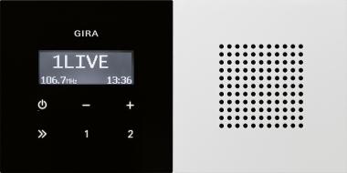 GIRA 2280112 Unterputz-Radio RDS mit einem Lautsprecher