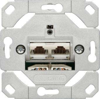 GIRA 245200 Netzwerk-Anschlussdose Cat.6A, 2-fach
