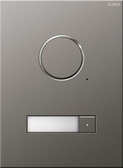 GIRA 250120 Türstation Edelstahl Audio Unterputz 1fach 1 Klingeltaste