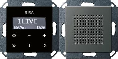 gira 2280600 unterputz radio rds mit einem lautsprecher edelstahl online kaufen im voltus. Black Bedroom Furniture Sets. Home Design Ideas