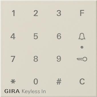 gira 851301 aufsatz codetastatur keyless in cremewei. Black Bedroom Furniture Sets. Home Design Ideas