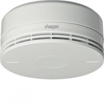 HAGER RFM102D BEKA Funk-Dualmelder mit integrierter Sirene, EN54 weiß