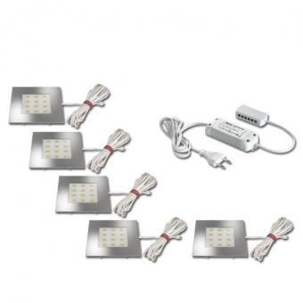 hera 61054935802 5er set q 68 led einbauleuchte ho 4w warmwei online kaufen im voltus elektro. Black Bedroom Furniture Sets. Home Design Ideas