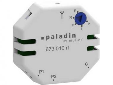 HUGOMÜLLER 673010rf KNX Schalteingang Sender 1-Kanal für zwei Taster paladin
