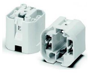 HOUBEN 527740 Fassung mit Glattmantel Sockel G24q-2/GX24q-2 18W
