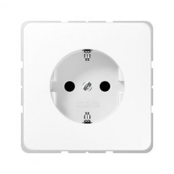 JUNG CD 1520 KI WW SCHUKO Steckdose integrierter erhöhter Berührungsschutz Alpinweiß glänzend