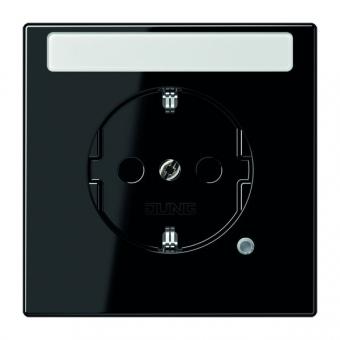 jung ls520nakosw schuko steckdose schwarz online kaufen im. Black Bedroom Furniture Sets. Home Design Ideas