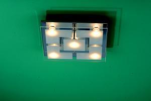 Lichtideen l35025 led deckenleuchte stahl verchromt for Led deckenleuchten innen