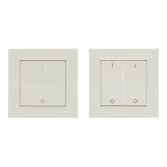 LINGG&JANKE 87896-WA FL-2-EA-WA Wippe 2fach Aluminium Silber Seidenglanz