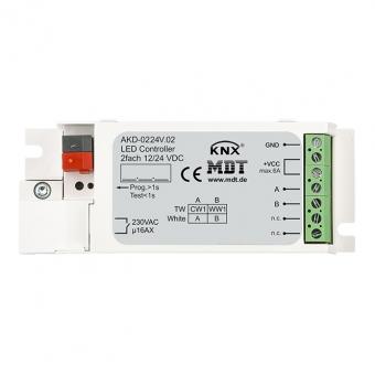 MDT AKD-0224V.02 LED Controller 2-Kanal für weiße Strips