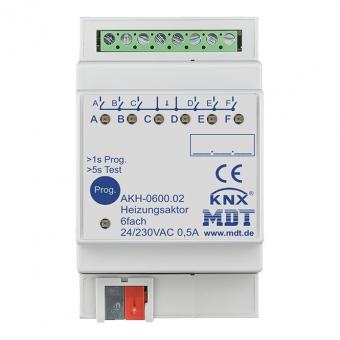 MDT AKH-0600.02 Heizungsaktor 3TE REG 24-230VAC 6-fach