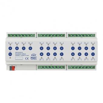 MDT AKS-2016.03 Schaltaktor 12TE REG 16A 230VAC C-Last Standard 140µF 20-fach