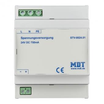 MDT STV-0024.01 Spannungsversorgung 4TE REG 750mA 24VDC