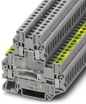 PHOENIX 3044678 UTTB 2,5-PE/L Schutzleiter-Doppelstockklemme grau