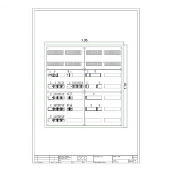SCE ELEKTRO STD800V Standardverteiler mit Visualisierung