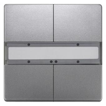 SIEMENS 5WG1286-2DB42 UP 286/42 Taster ohne Status-LED platinmetallic 2-fach