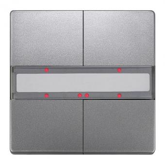 SIEMENS 5WG1286-2DB43 UP 286/43 Taster mit Status-LED platinmetallic 2-fach