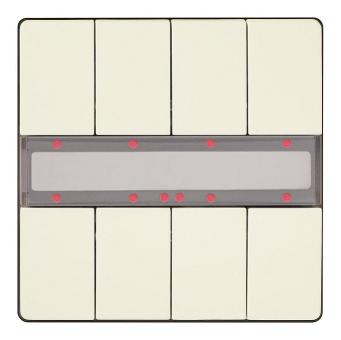 SIEMENS 5WG1287-2DB13 UP 287/13 Taster mit Status-LED titanweiß 4-fach